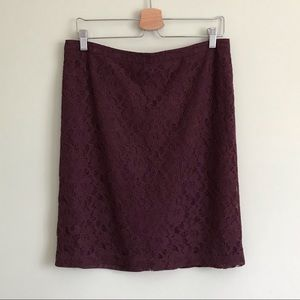 Banana Republic // Burgundy Lace Pencil Skirt